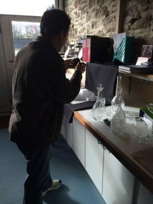 Luke brings more charity shop glass