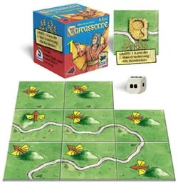Carcassonne Mini 1: The Flier contents