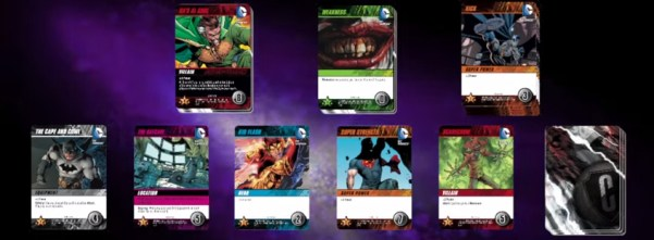 DC Comics Deck-building Game setup