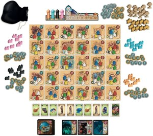 Five Tribes game components