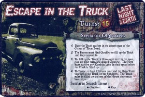 Last Night On Earth: The Zombie Game - Escape In the Truck scenario