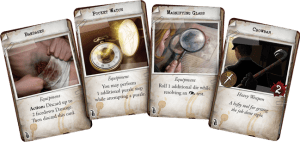 Mansions of Madness 2nd Ed sample item cards