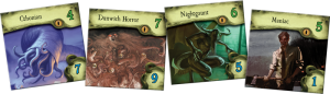 Mansions of Madness 2nd Ed sample monster tiles