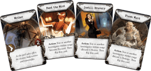 Mansions of Madness 2nd Ed sample spell cards