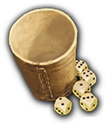 Stone Age dice cup