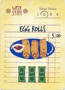 Wok Star Egg Rolls Order Card