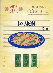 Wok Star Lo Mein Order Card