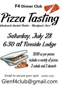 F4 Pizza Tasting @ Fireside Lodge