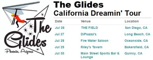 The Glides California Dreamin' Tour Schedule