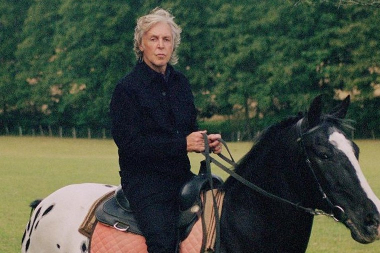 Paul McCartney on horse shot by Mary McCartney The Glitter and Gold