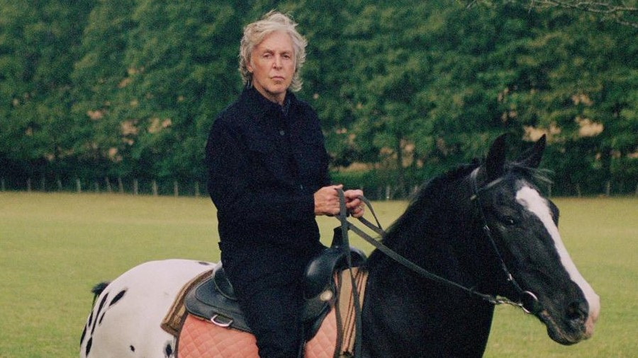 Paul McCartney on horse shot by Mary McCartney