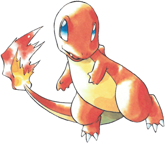 Charmander Pokemon Red Game Promo Image The Glitter and Gold