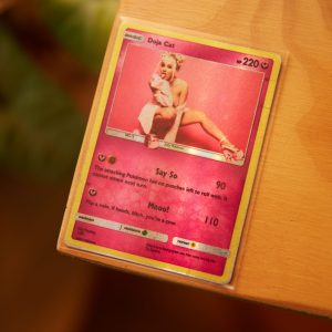 Doja Cat Trading Card The Glitter and Gold Rap Trading
