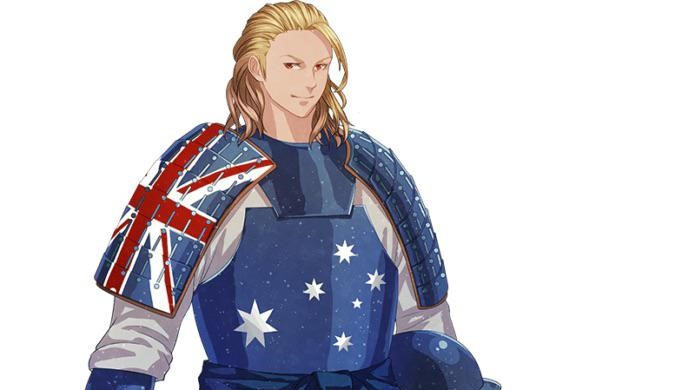 Edward Australian Flag Anime Samurai Warrior Tokyo Olympics