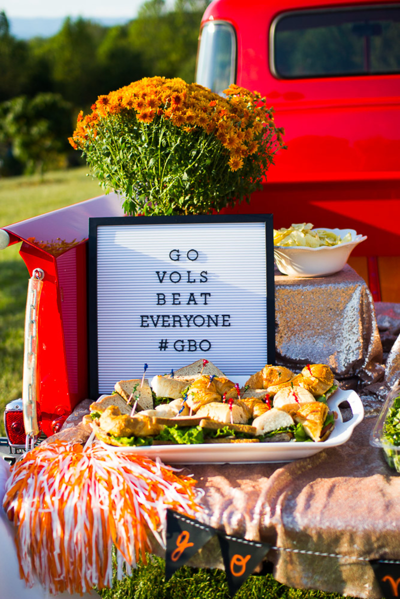 The Glitter Gospel Blog Partners with McAlister's Deli to show you how to throw your next #TipTipTailgate. Tennessee Football is serious business and so is this tailgate!