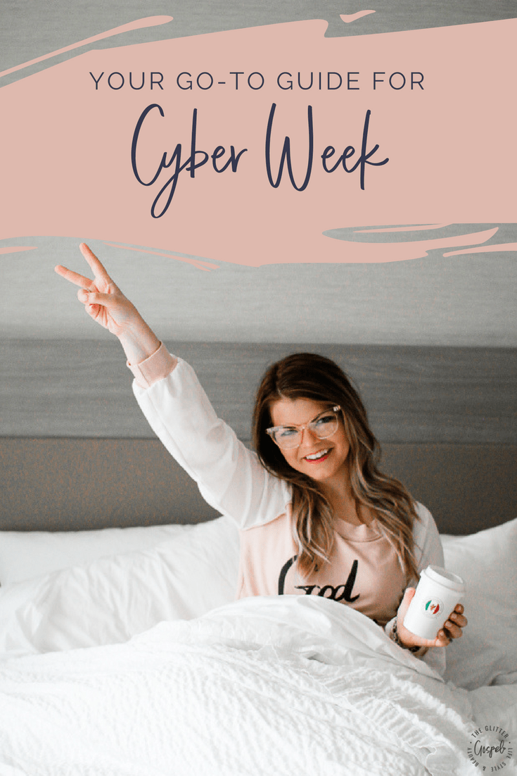 Cyber Week Shopping Guide 2017 with The Glitter Gospel. Gift Guide for her, gift guide for him, easy holiday gifts, what to buy for christmas.