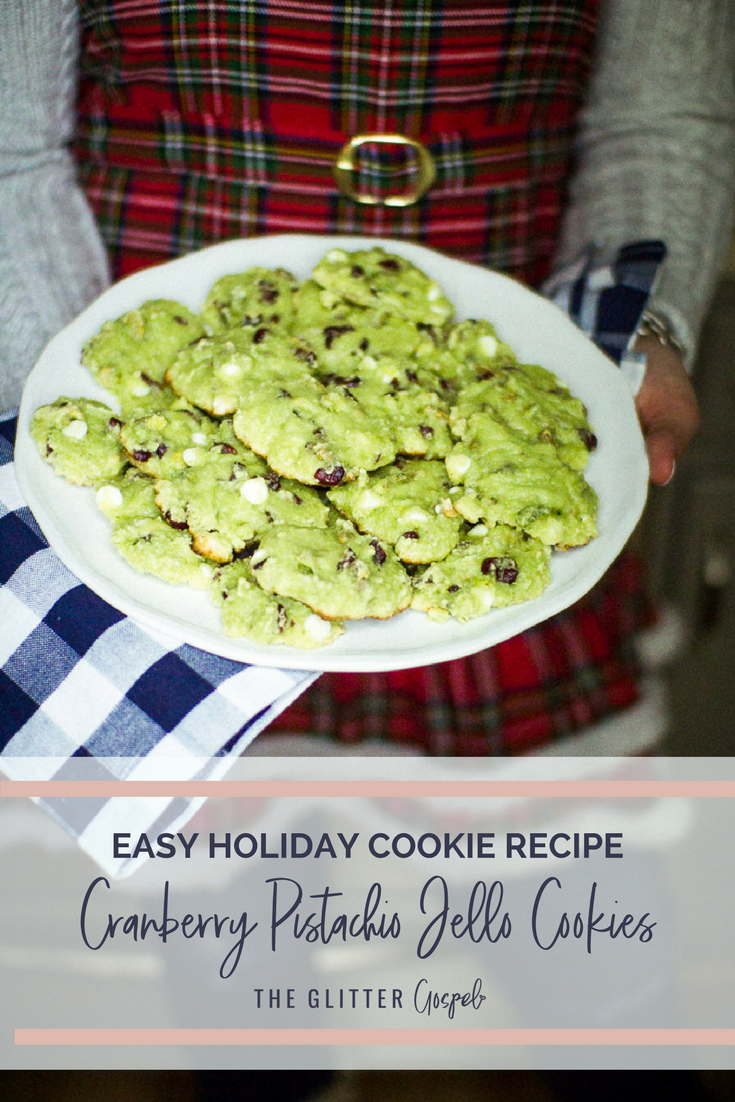 Cranberry Pistachio Jello Cookies, holiday cookie recipe, holiday treats, christmas cookies, recipe