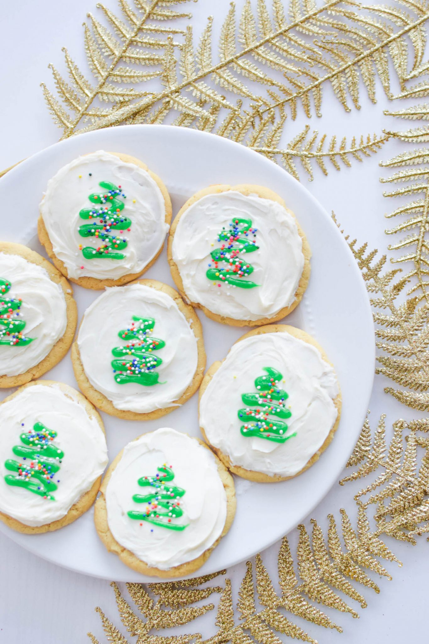 A Touch of Teal Sugar Cookie Recipe | Holiday Cookie Recipe |