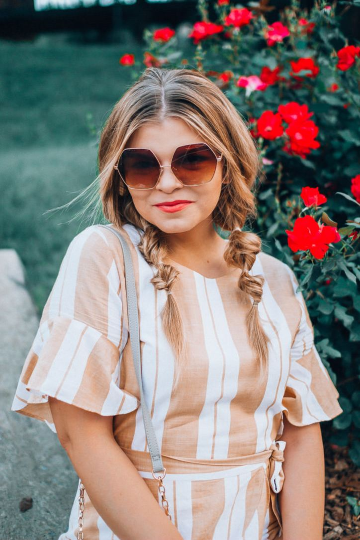 Go-To Summer outfits, Yellow Sundress, Cognac Wedges, Oversized Sunglasses, Boho Style, Gingham top, White Jeans, Platform Espadrilles,, The Glitter Gospel. Tennessee Blogger
