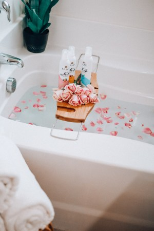 Olay Whip Body Wash + The Glitter Gospel Blog, beauty routine, shower routine, Tennessee Blogger, Get ready with me, how-to, Pink Roses.