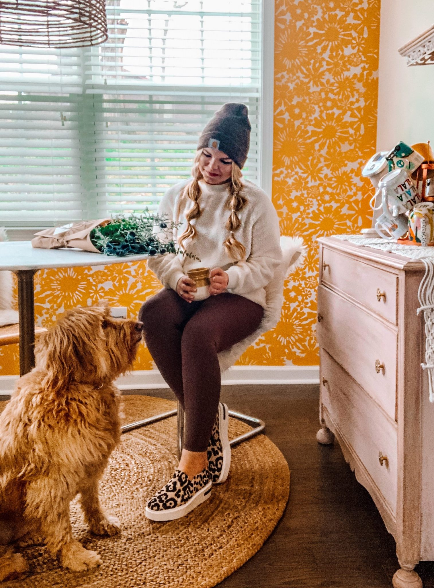 Lacey Anne Douthat of The Glitter Gospel shares her journey with mental health in hopes of inspiring others to take charge of their own. Mental health awareness, mental Health,Depression, Anxiety, PTSD, Breakfast Nook, Goldendoodle, Linea Paolo, Leopard Sneakers, Slip on Sneakers, Carhart Beanie, Aerie Leggings, Tennessee Blogger