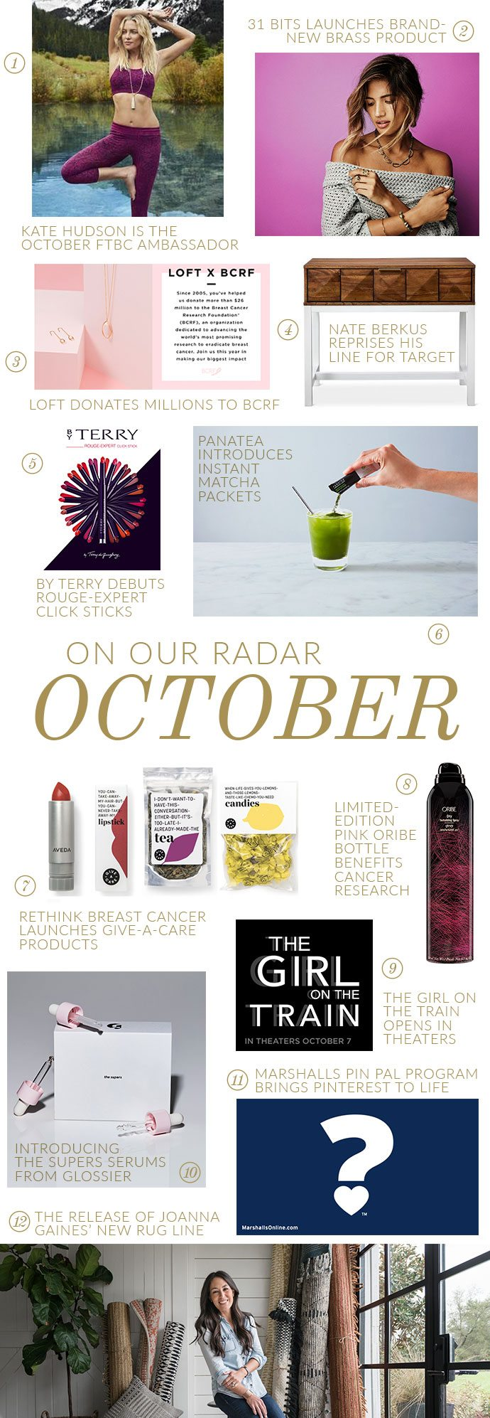 On Our Radar For October
