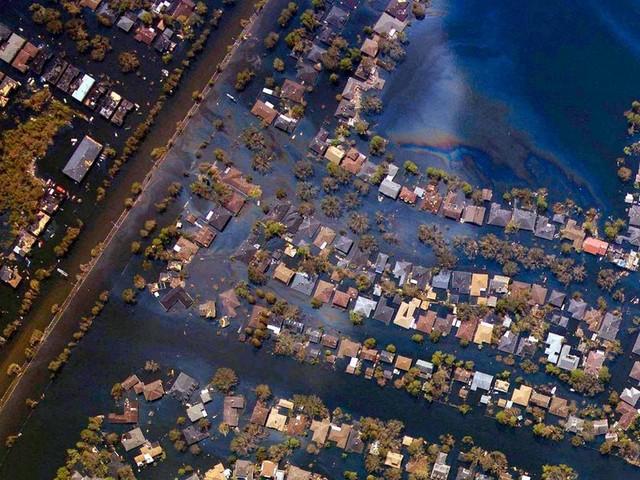 New Orleans Hurricane Katrina Destruction Overhead Photo of What