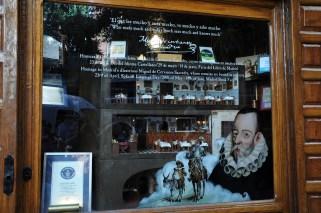 Botin Window - homage to Cervantes