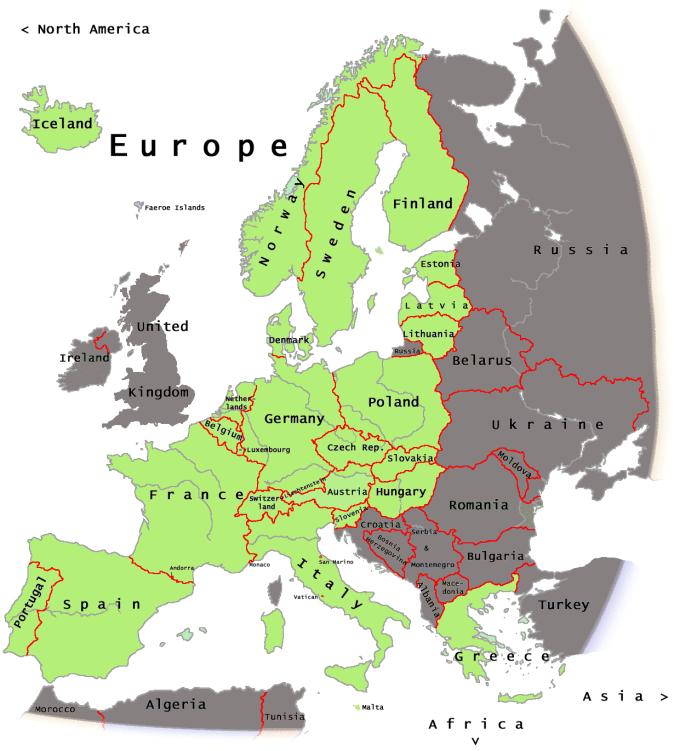 Eu Free Travel Zone Distination