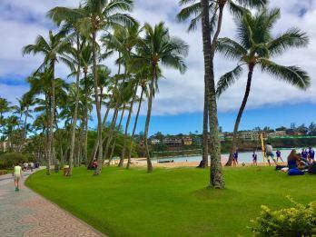 Beautiful Kalapaki Beach in front of Duke's, Kauai
