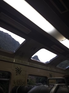 In the train to Aguas Calientes.
