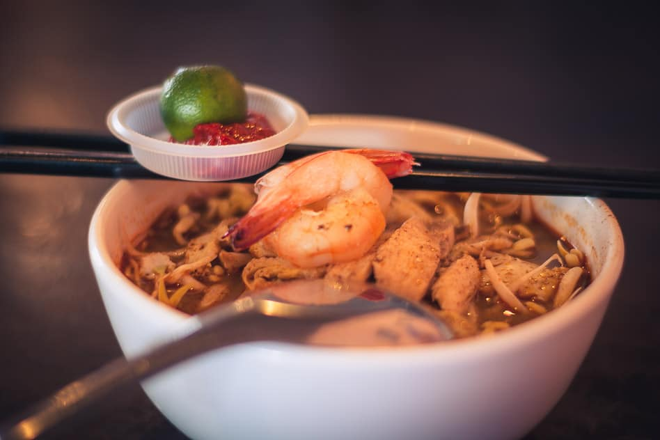 Kuching Borneo Asam laksa Typical Dish