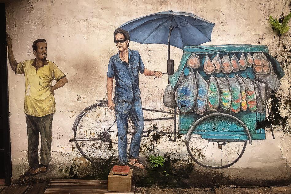George Town Penang Malaysia Street art Vender Urban