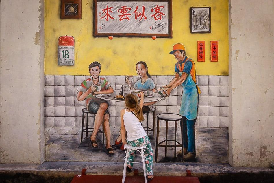 Ipoh Malaysia Street Art Drink Bar Kids