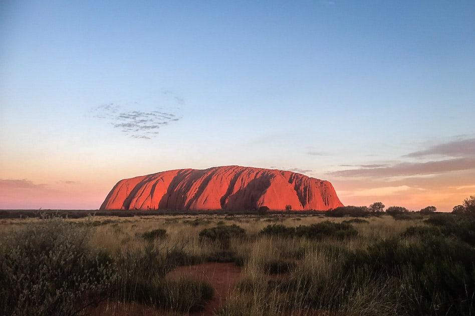 Sunset Uluru National Park Ayers Rock Australia