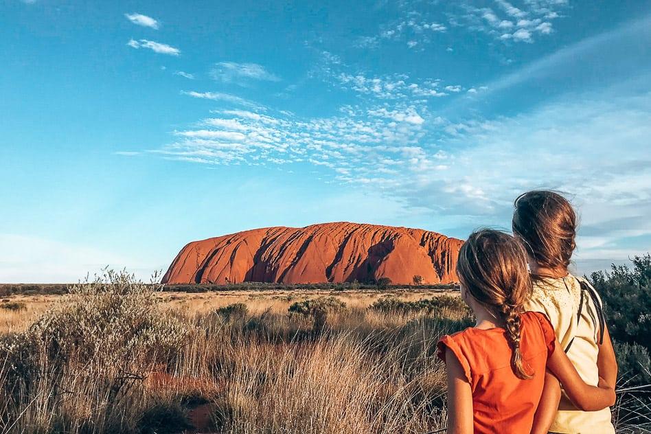 Op weg van Darwin naar Uluru. O nee, de auto is kapot…