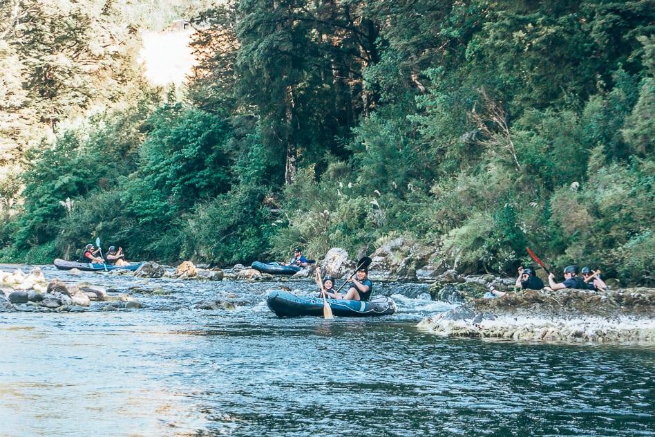 Pelorus Eco Adventures Hobbit Kayak Family Scenery