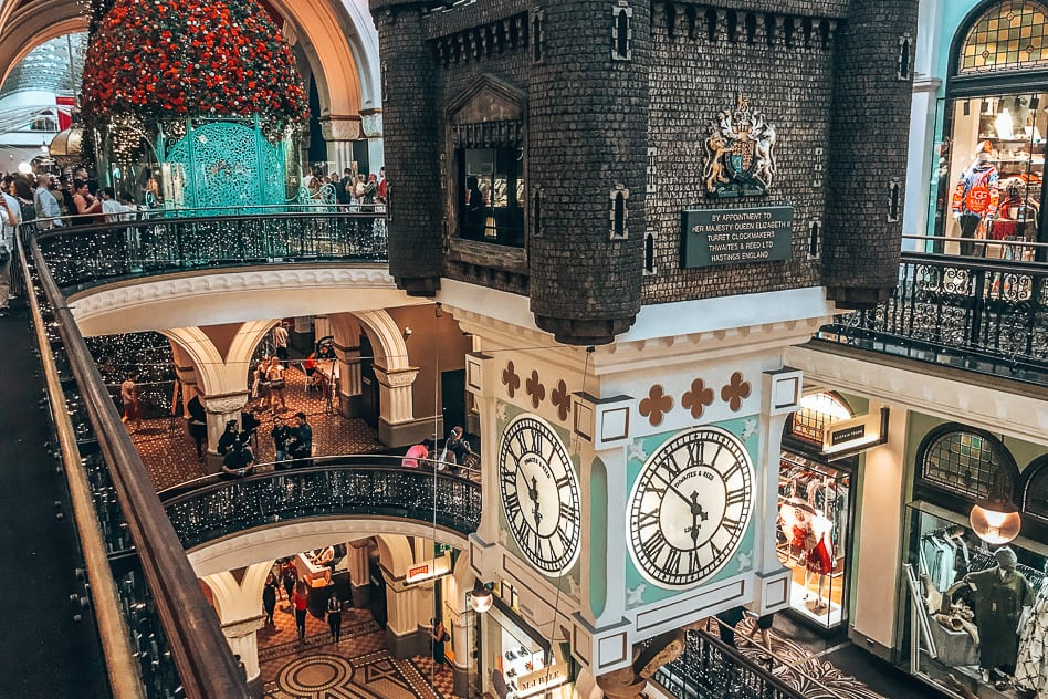 Christmas Queen Victoria Building Shopping Sydney