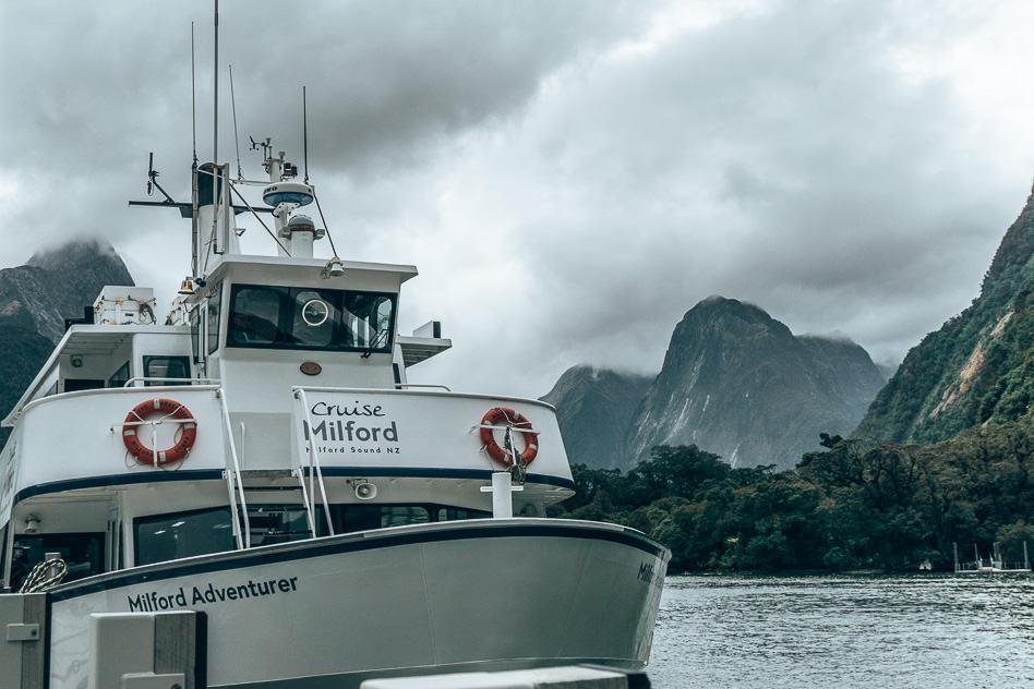 Boat Vessel Cruise Milford Sound Smaller New Zeland