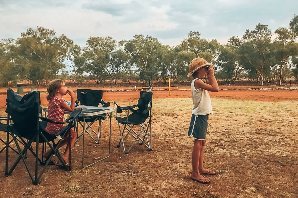 Familie Banka Banka Outback Kangoeroe Trip