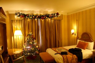 Our Christmas Hotel room!