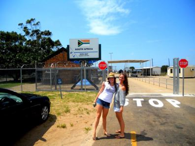 First day, crossing the border into Mozambique.
