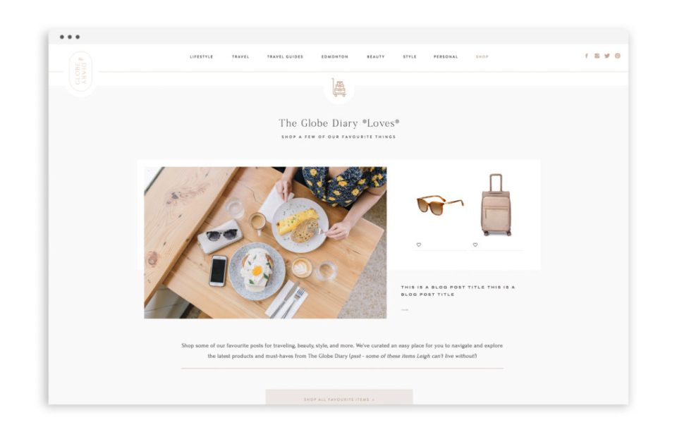Website Redesign Showit With Grace and Gold Blog Design Elements