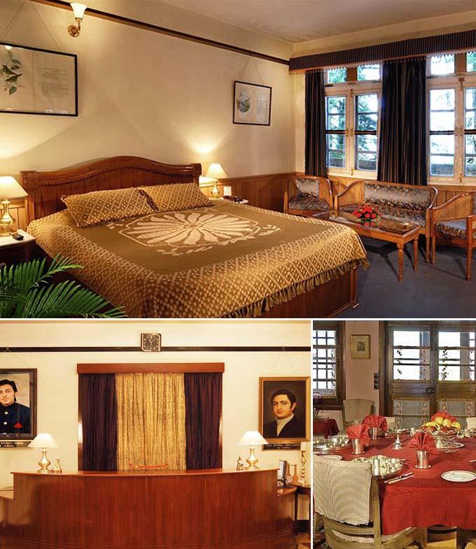 Trois hôtels en inde hymalayenne