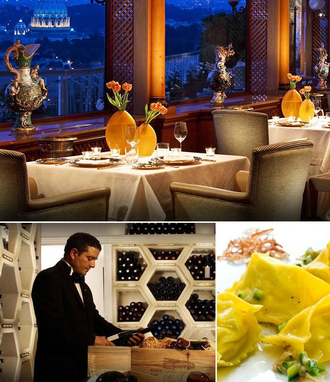 La pergola rome italie restaurant