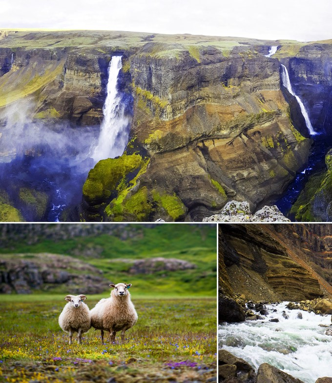 Haifoss cascades Reykavick Islande