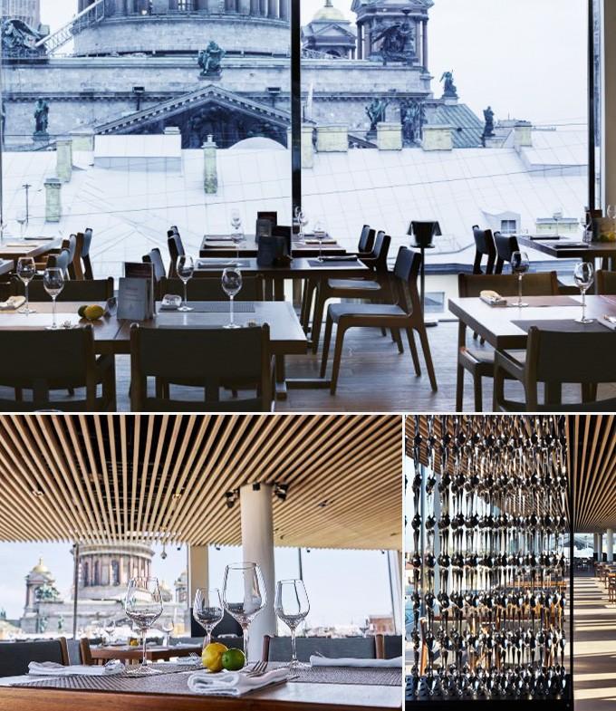 Mansarda restaurants St Petersbourg