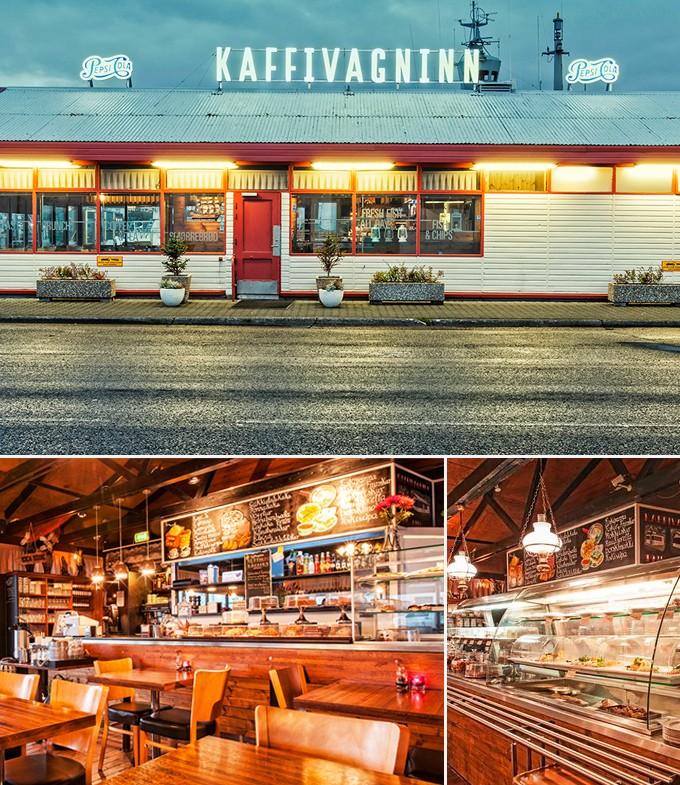 Restaurants Reykjavik Islande Kaffivagninn
