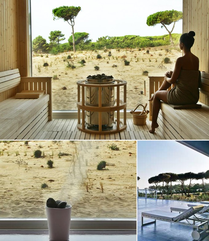 Dry body brushing ritual spa Hotel Oitavos Cascais Portugal a faire
