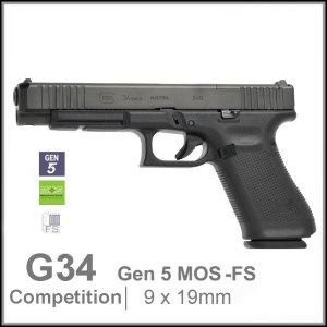 Glock 34 Gen 5 MOS FS 9mm competition pistol